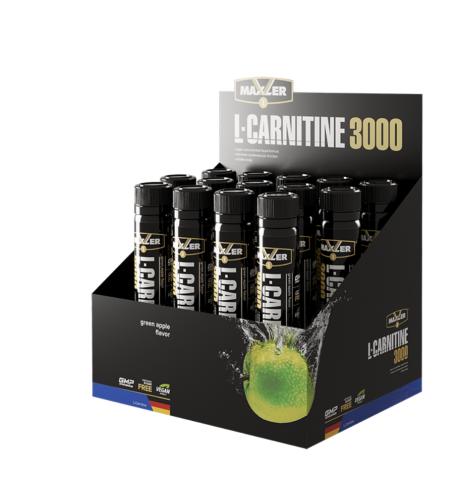 Maxler, L-Карнитин 3000 (яблоко), шоты, 14 х 25 мл