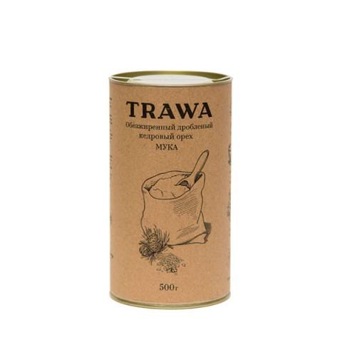 TRAWA, Обезжиренный и дробленый кедровый орех (мука), 500 г
