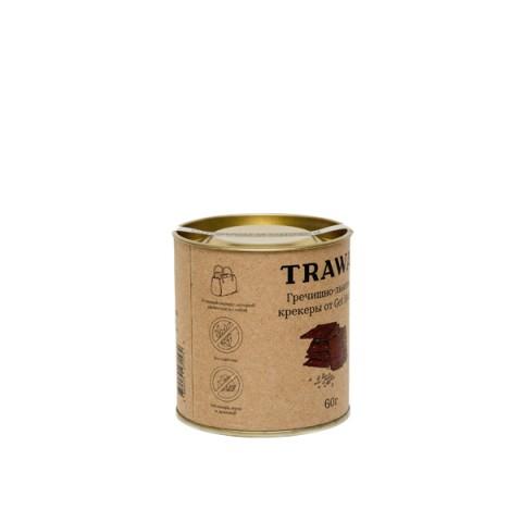 TRAWA, Сладкие гречишно-льняные крекеры (б/г), 60 г