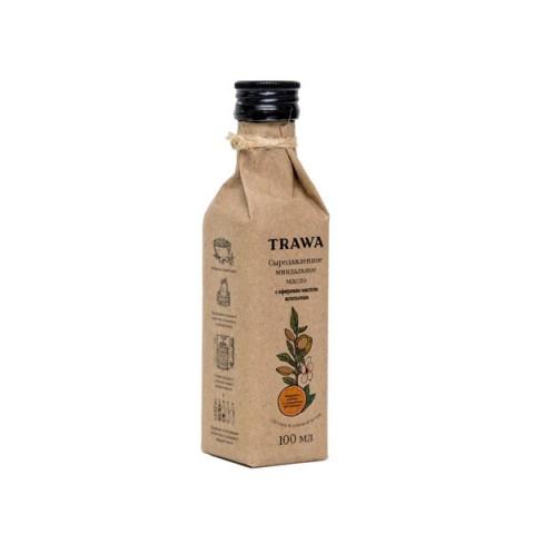 TRAWA, Масло миндальное сыродавленное с эфирами апельсина, 100 мл