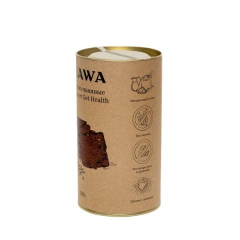 TRAWA, Сладкие гречишно-льняные крекеры (б/г), 160 г