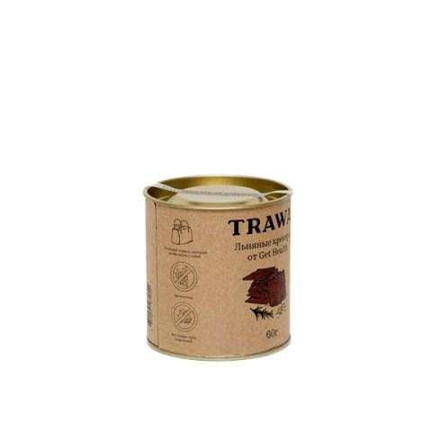 TRAWA, Крекеры льняные с розмарином от Get Health (б/г), 60 г