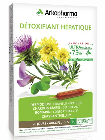 Arkopharma Laboratoires, Detoxifiant Hepatique (защита и стимуляция работы печени), ампулы, 20х10 мл