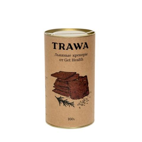 TRAWA, Крекеры льняные с розмарином от Get Health (б/г), 160 г