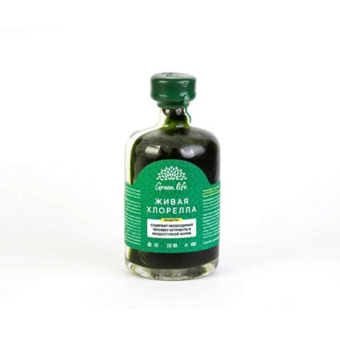 Green Life, Живая хлорелла, жидкость,  250 мл