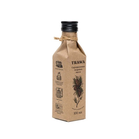 TRAWA, Масло кедровое сыродавленное, 100 мл