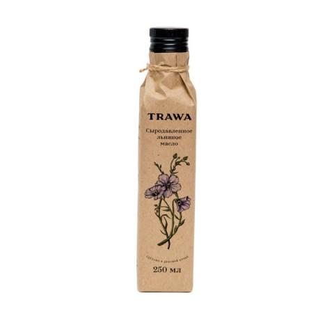 TRAWA, Масло льняное сыродавленное, 250 мл