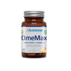 Avicenna, Омега + Витамин Д, OmeMax+Vitamin D3 (Халяль), капсулы, 60 шт.