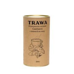 TRAWA, Кантуччи с вишней на меду, печенье, 300 г