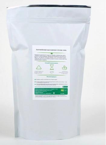 Mg Salt, Английская магниевая эпсом соль, порошок, 1 000 гр