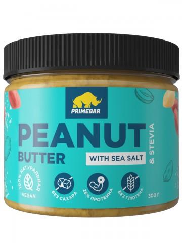Prime Kraft, Арахисовая паста с морской солью и стевией, 300 гр