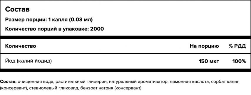 Maxler, Йод (калий йодид), капли, 60 мл