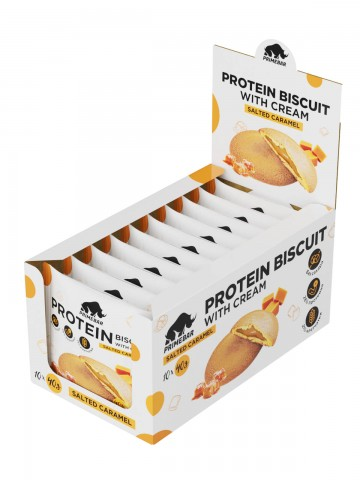 Prime Kraft, Протеиновое печенье PRIMEBAR BISCUIT (соленая карамель), 10 шт х 40 гр