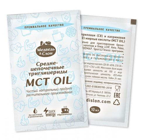 Медведь и Слон, МСТ (MCT) масло, саше, 25х10 мл